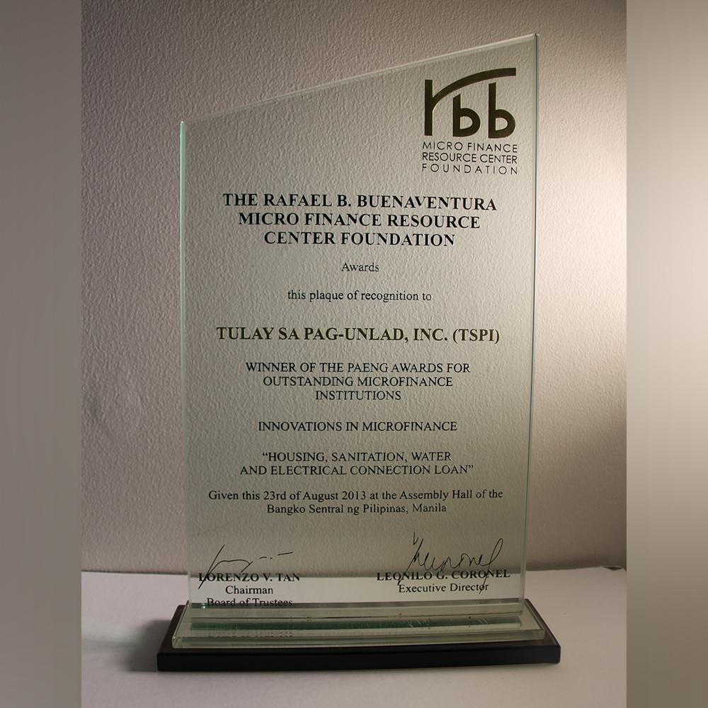Winner of the Paeng Awards for Outstanding Microfinance InstitutionsWinner of the Paeng Awards for Outstanding Microfinance Institutions
