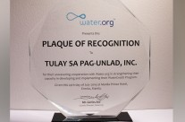Plaque of Recognition from Water.org Philippines